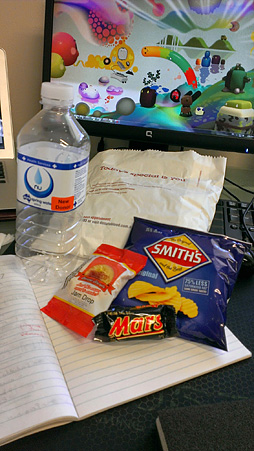 Inside the blood donation goodie bag: junk food