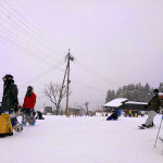 Nozawa Onsen: Bottom of Green Slope