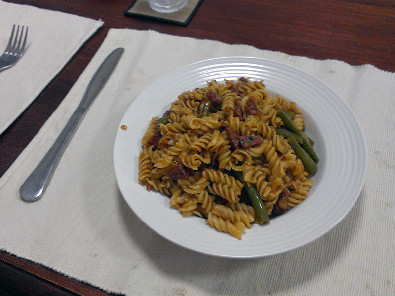 Richard's First Dish for Me: Pasta