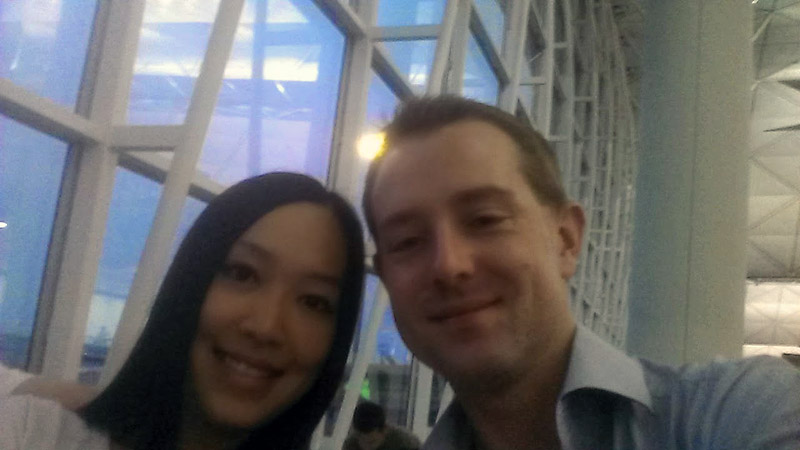 Day 7: Selfie at Hong Kong Airport Boarding Gate