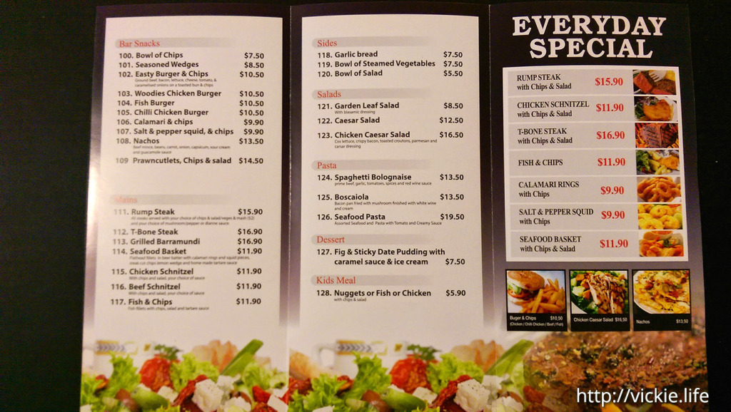Jean's Chilli Chicken, Eastwood Hotel: Takeaway Menu Page 2