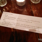 Bistro Papillon: Specials Menu 13 Oct 2014