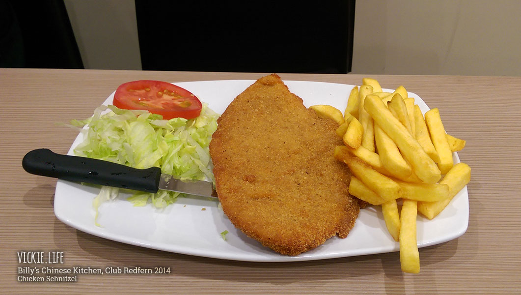 Billy's Chinese Kitchen, Club Redfern: Chicken Schnitzel