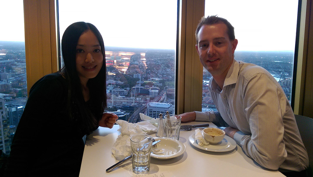 Sydney Tower Buffet: Vickie and Richard