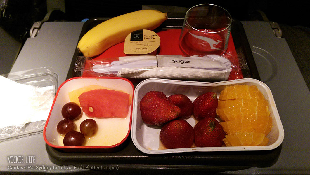 Qantas Fruit Platter Supper on QF21