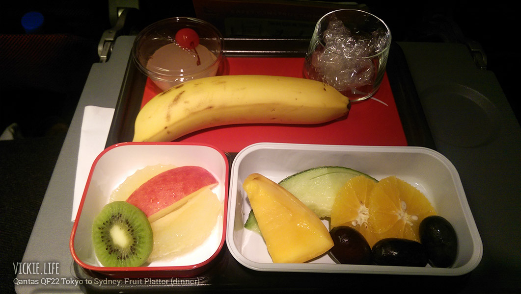 Qantas Fruit Platter Dinner on QF22