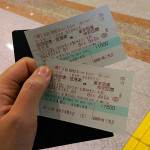 Ski Trip Jan 2015 D1: Double Train Tickets
