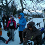 Ski Trip Jan 2015 D4: Epic Bus Stop Queue
