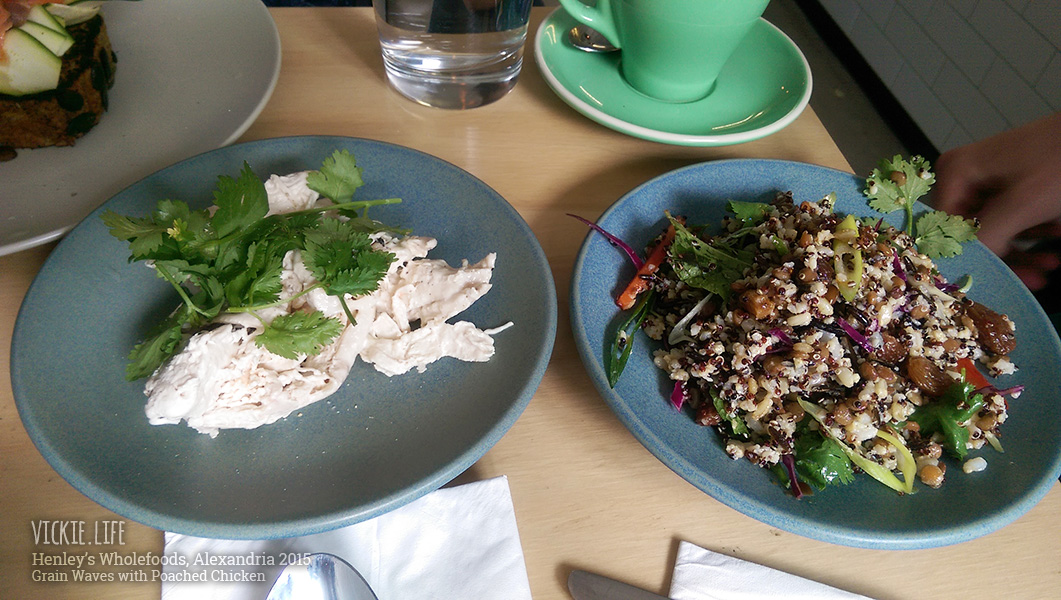 Henley's Wholefoods Alexandria: Grain Waves with Poached Chicken