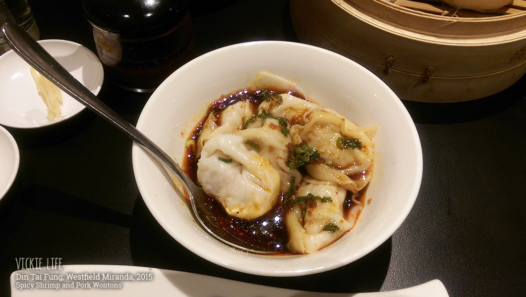 Din Tai Fung Miranda: Spicy Shrimp and Pork Wontons