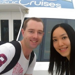 Cairns May 2015: Sunset Cruise Front Deck Selfie