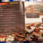 Bar Angolo Pizzeria, Top Ryde, June 2015: Menu Pizzeria