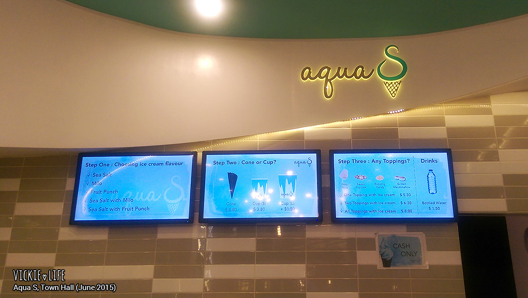 Aqua S Town Hall, June 2015: Menu