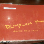 Dumpling King, Newtown, June 2015: Menu Cover