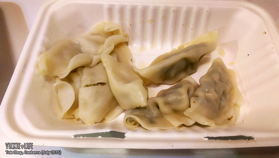 Tuk Chop, Canberra Airport, July 2015: Dumplings