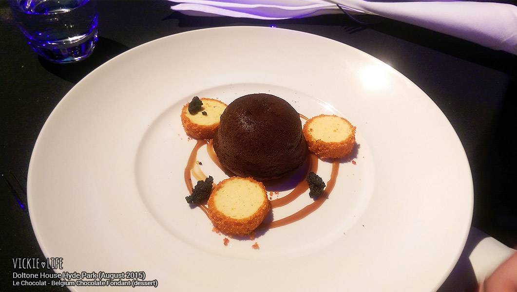 Park, August 2015: Belgium Chocolate Fondant (dessert)